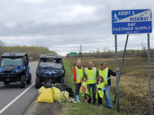 B&F Fastener's community involvement includes Adopt-a-Highway