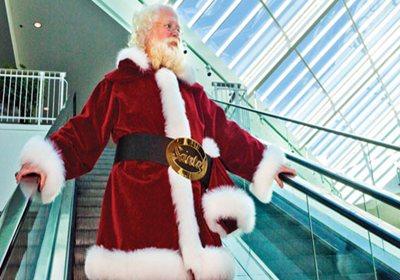 Santas on Their Way