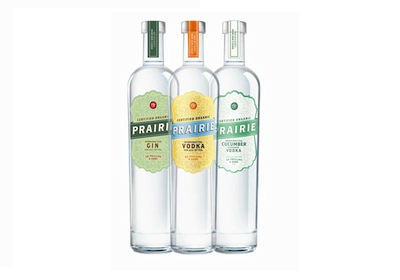 Prairie Organic spirits gin, vodka, and cucumber-flavored vodka