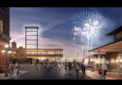 Rendering of the Saints' Lowertown Regional Ballpark