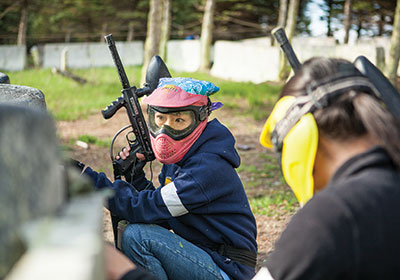 Employees Bond In The Paintball Trenches