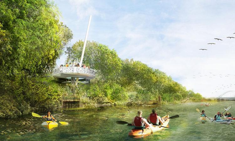 Corporate Greenbacks Bolster Riverfront Green Space