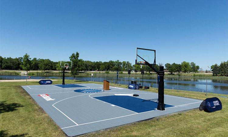 Timberwolves, U.S. Bank Refurbish Four Basketball Courts