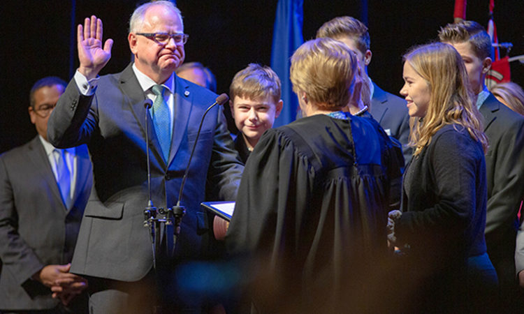 In First Speech as Governor, Walz Sticks to 'Fundamentals' — Schools, Health Care, and Infrastructure