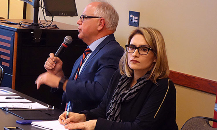 On Listening Tour, Walz Gets an Earful, and Offers an Admission: 'I Will Fail You at Times'