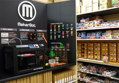 Home Depot Starts Selling Stratasys' MakerBot 3D Printers