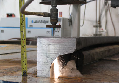 Jet Edge's Water Jets Cut Melons, Metal, and More