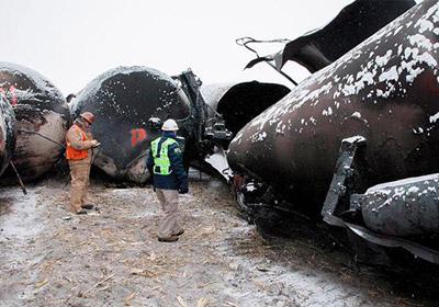Explosive Train Derailment Heightens Concerns About Transporting Bakken Crude Oil