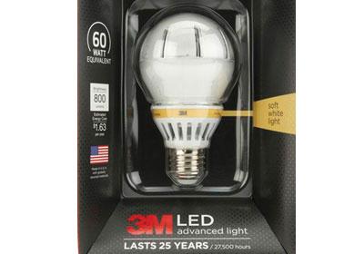 3M Has A Bright Idea For LED Lightbulbs