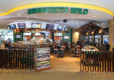 Inside The MSP Airport's New MN Wild-Themed Restaurant