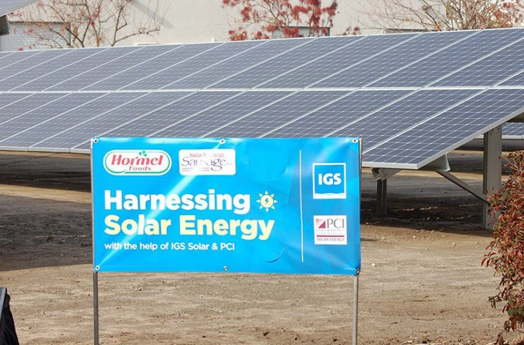 Hormel Wraps up Solar Project at California Meat Production Facility
