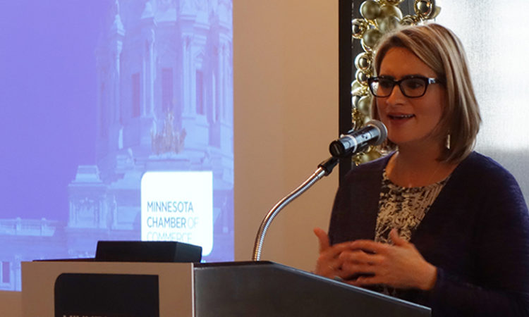 Flanagan Tells Business Leaders: Push Coming for Paid Family Leave, More Affordable Child Care