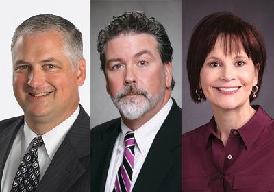 Dave Lagerstrom, CEO, Turck Inc., Mick Hannafin and Jeanne Clay, Ahmann-Martin