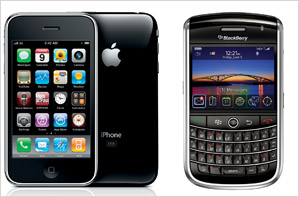 BlackBerry Tour 9630 Vs. IPhone 3GS