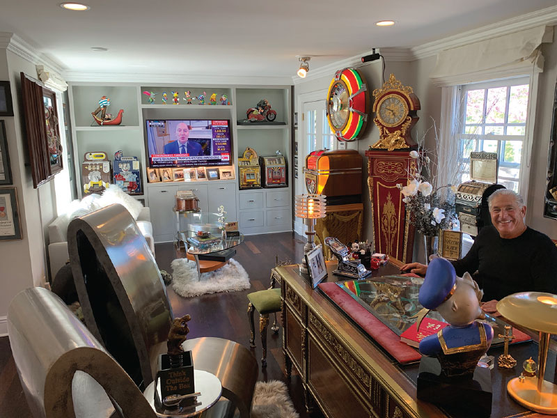 Steven Schussler's home office