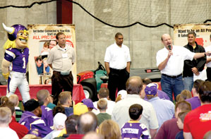 The Thrivent Financial All Pro Dad Father And Kids Experience With The Minnesota Vikings