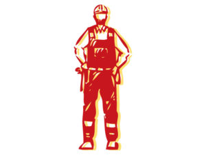 illustration of construction worker