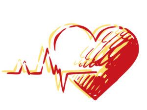 Illustration of heart pumping