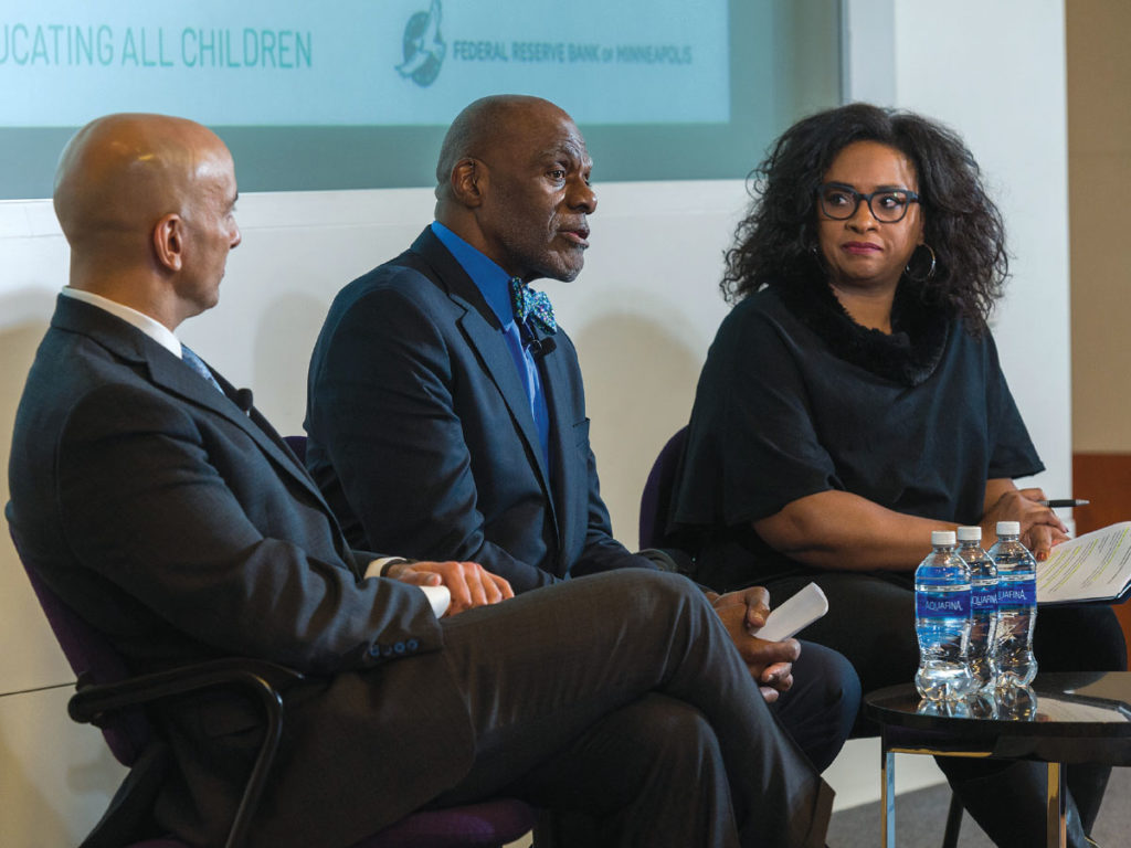 Neel Kashkari, Alan Page and Angela Davis