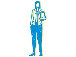 Illustration of hospital administrator