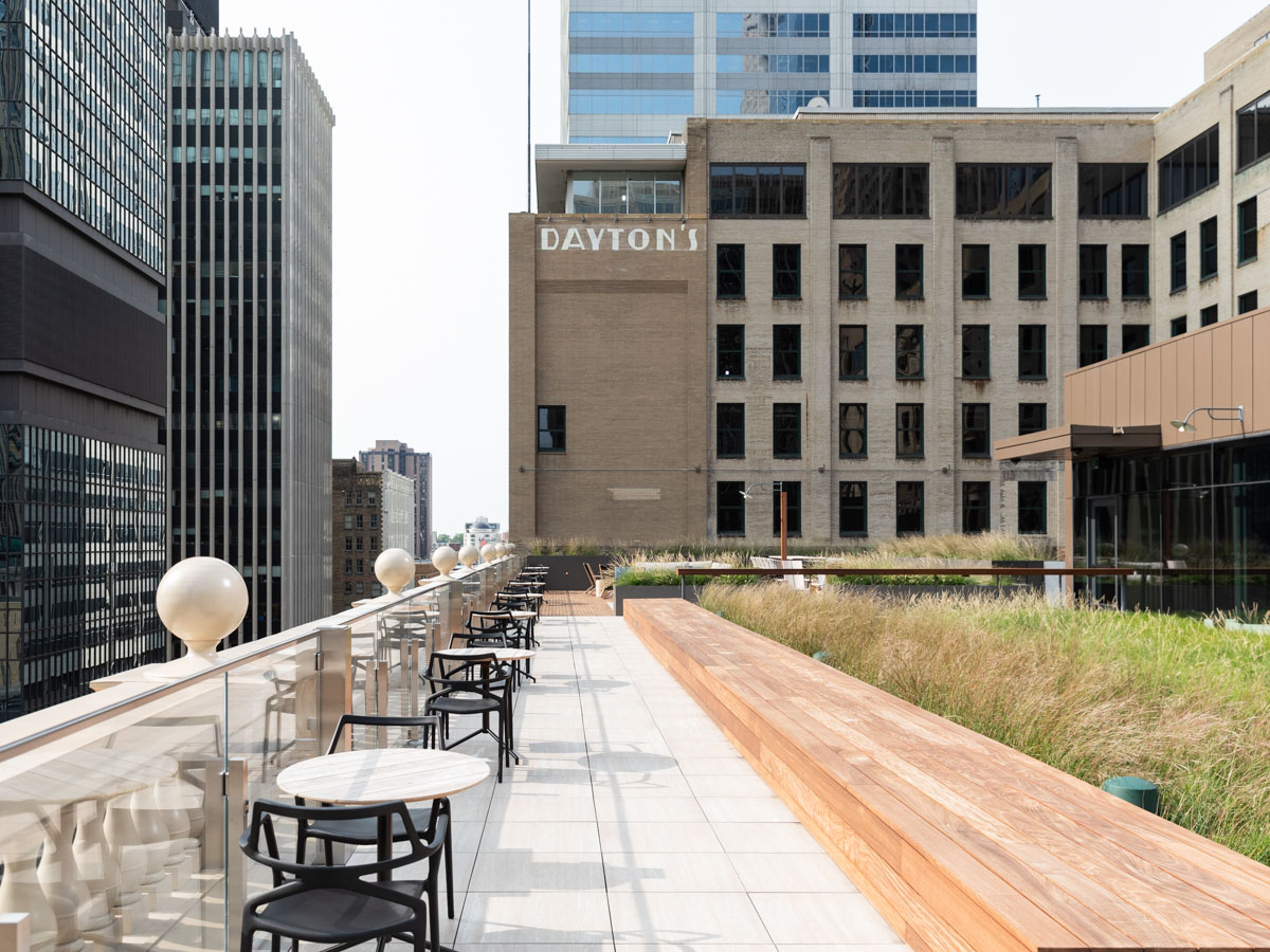The rooftop terrace at the Dayton's Project will be accessible to office tenants.