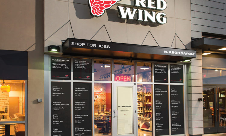 Red Wing Shoe Co. Promotes Jobs Over Boots for Labor Day