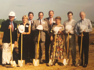 Family at a groundbreaking