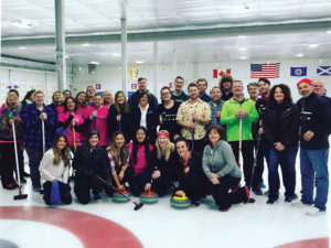 Gamer Packaging company curling outing