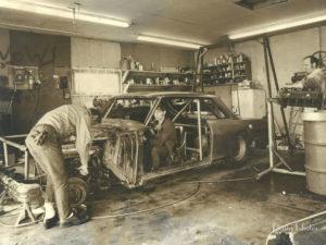Wayne Larson and Bob Lamoreaux work in the garage where Waytek got its start.