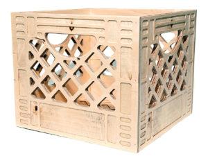 fancy milk crate