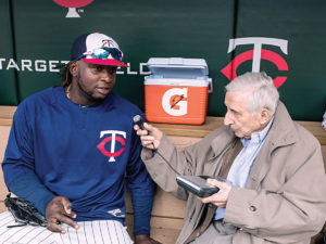 Sid Hartman interviewed Miguel Sano of the Twins.