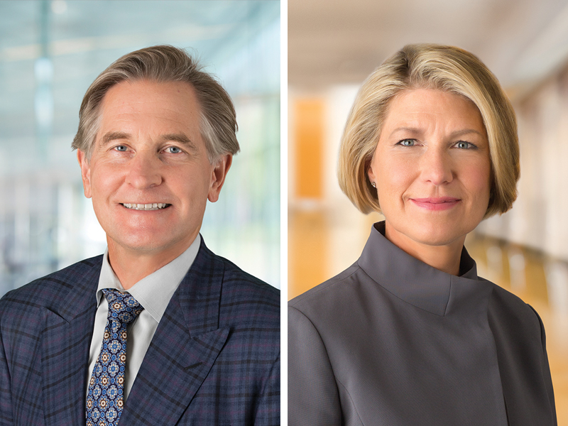 George Hicks and Marcia Page, Co-founders of Varde Partners