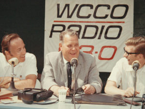 from left: Charlie Boone, Twins owner Calvin Griffith, and Roger Erickson