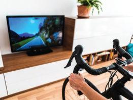 Stationary bike and TV