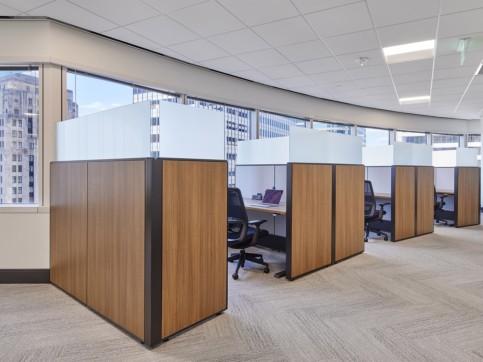 cubicles in Henson Efron's office in downtown Minneapolis