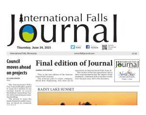 International Falls Journal Newspaper Publishes Final Edition