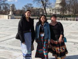 Three young American Indian women in Washington DC