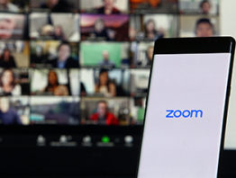 Zoom meeting on a computer
