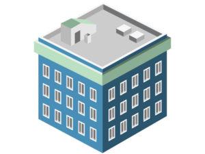 illustration of three story building