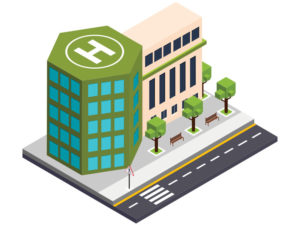 illustration of a hospital
