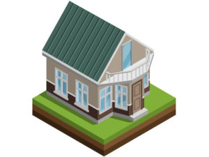 3D illustration of a house