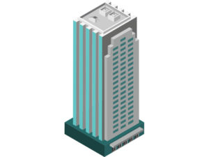 illustration of a tall building