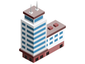 illustration of a tall office building