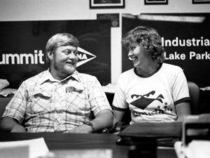 Dave and Ronda Schiebout out promoting their company in 1980.